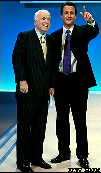 David Cameron and John McCain at Conservative Party Conference