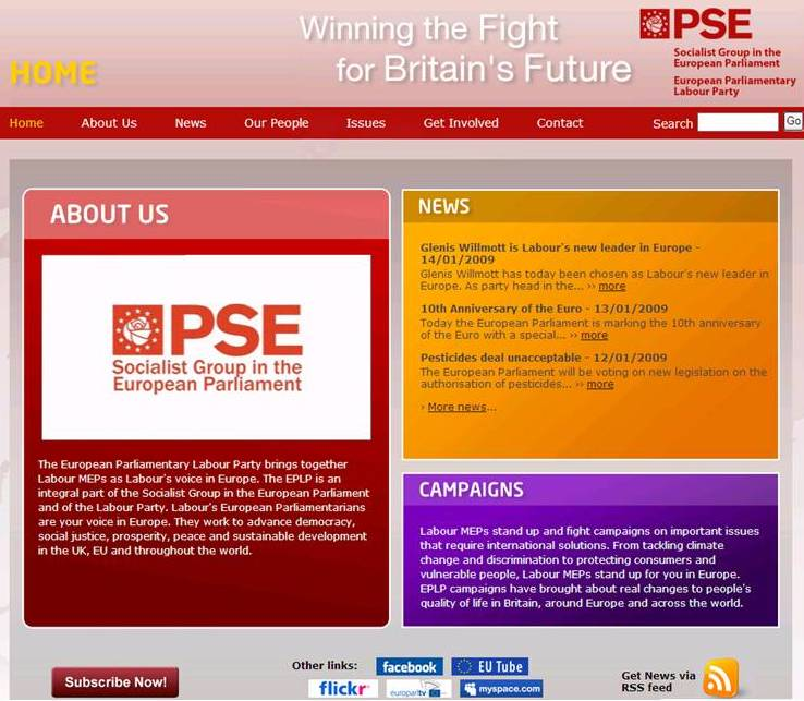 European Parliamentary Labour Party Homepage