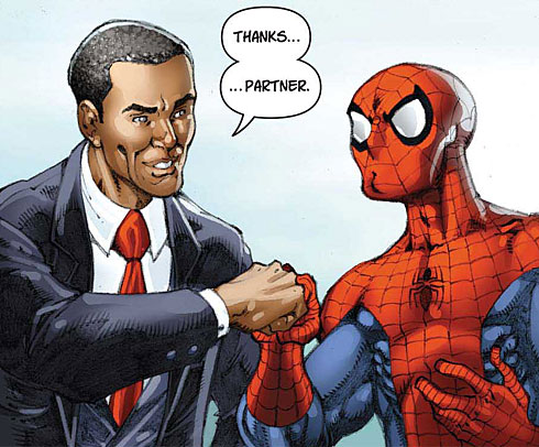 Obama v.s Spiderman