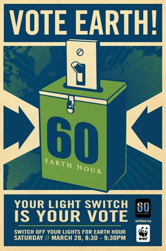 earth hour Shepard Fairey