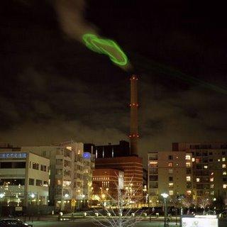 green environmental laser