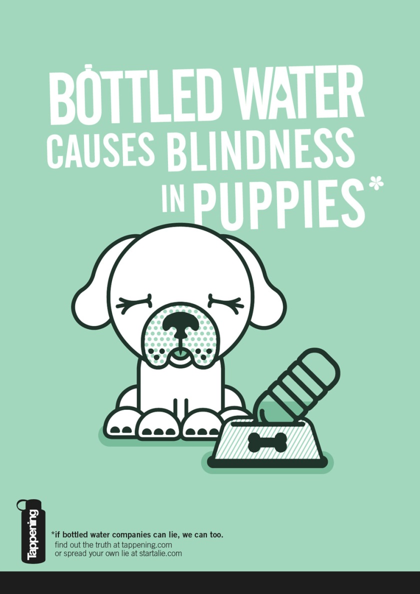 Bottled water causes blindness in puppies start a lie