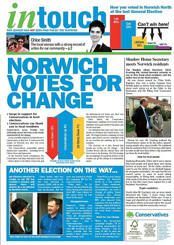 Norwich north leaflet chloe smith