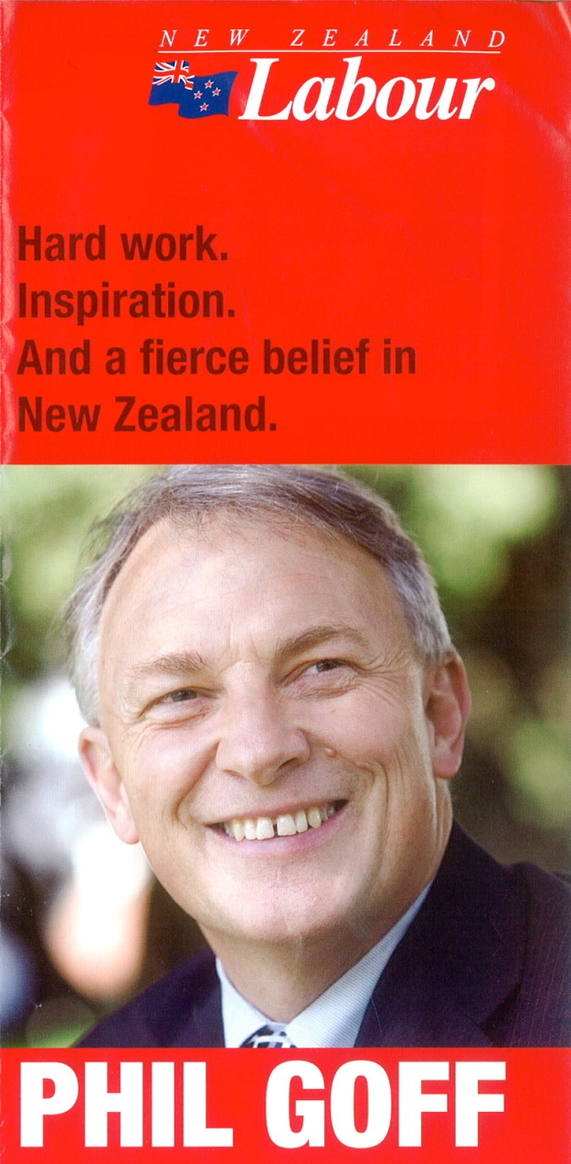 Phil Goff New Zealand Political Advertising