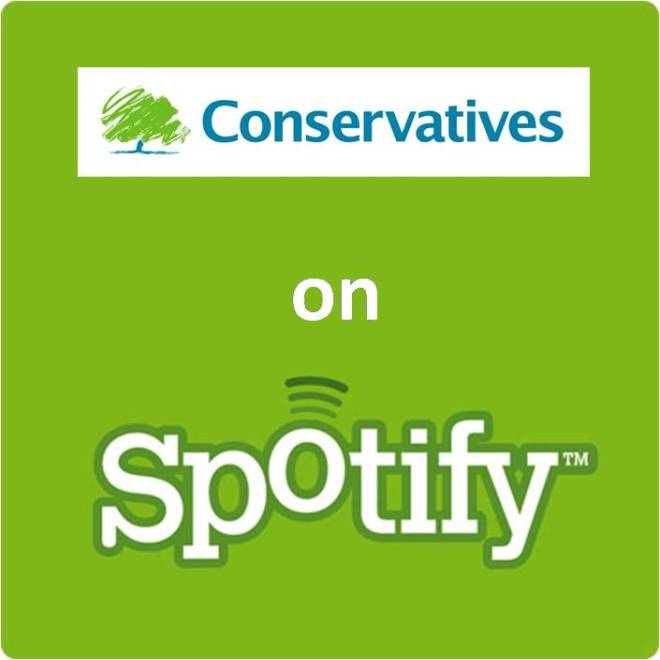 Conservatives party on spotify