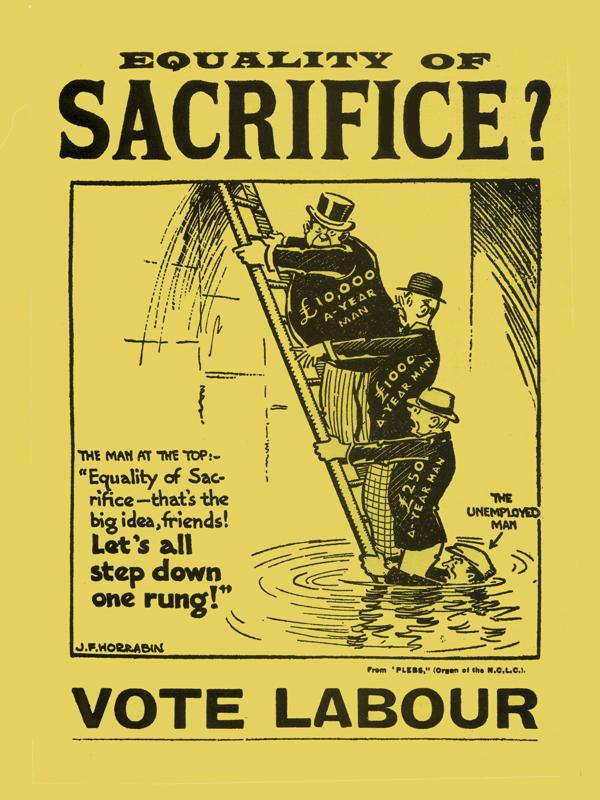 David Miliband Equality of sacrifice step down one rung