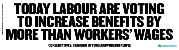 Labour are voting to increase benefits by more than workers wages landscape