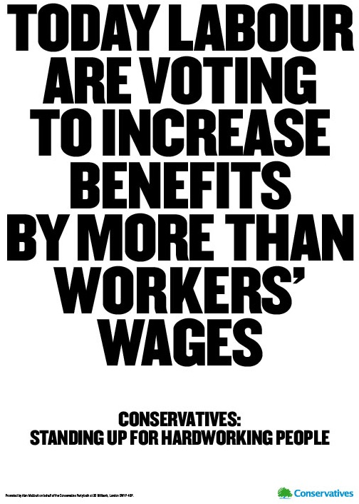 Labour are voting to increase benefits by more than workers wages
