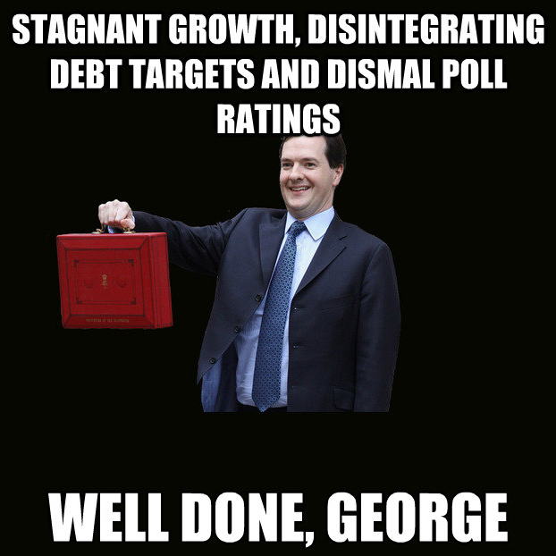 debt, dismal polls, debt targets missed