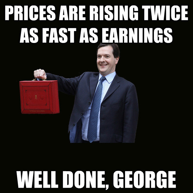 Well done, george.  prices rising.