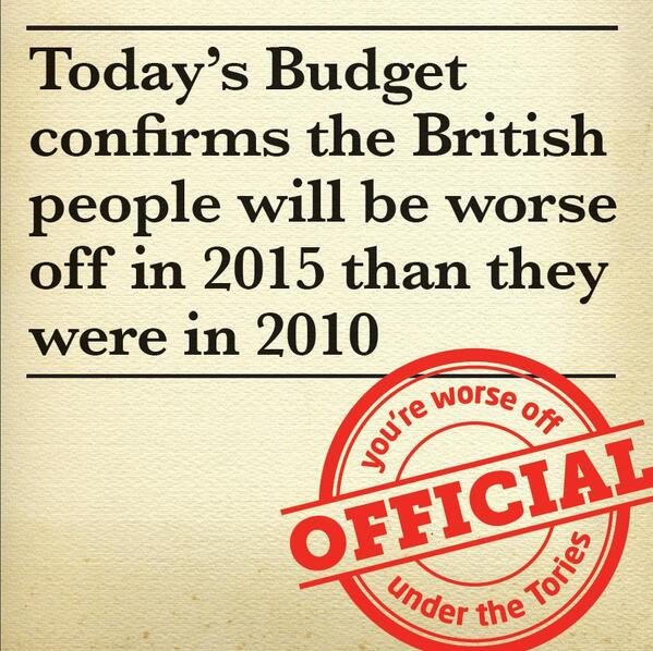 You are worse off under the tories