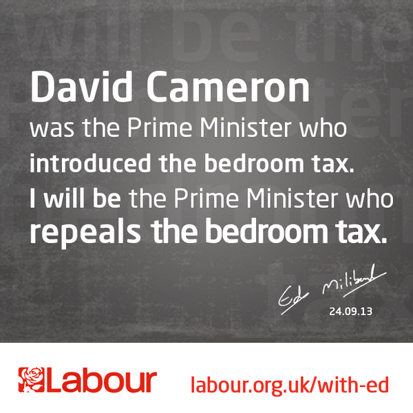 Bedroom tax Ed Miliband conference speech 2013