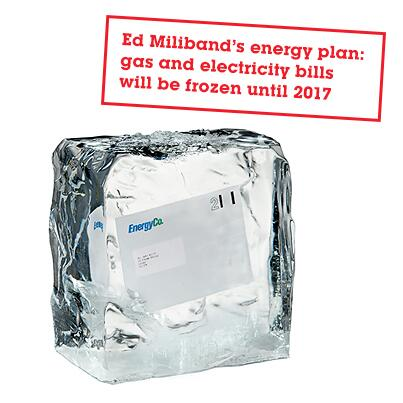 energy bills frozen ice cube ed miliband conference speech