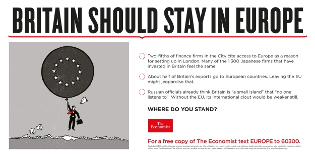 Britain should stay in Europe where do you stand economist