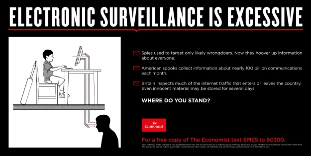 Electronic surveillance excessive economist where do you stand
