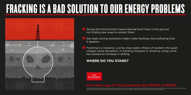 Fracking bad solution economist where do you stand