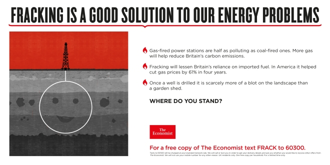 Fracking good solution economist where do you stand