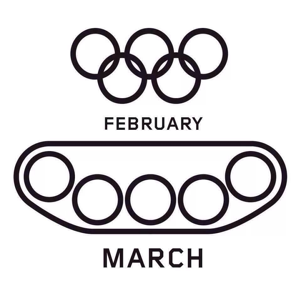 Olympic rings Russia tanks february march
