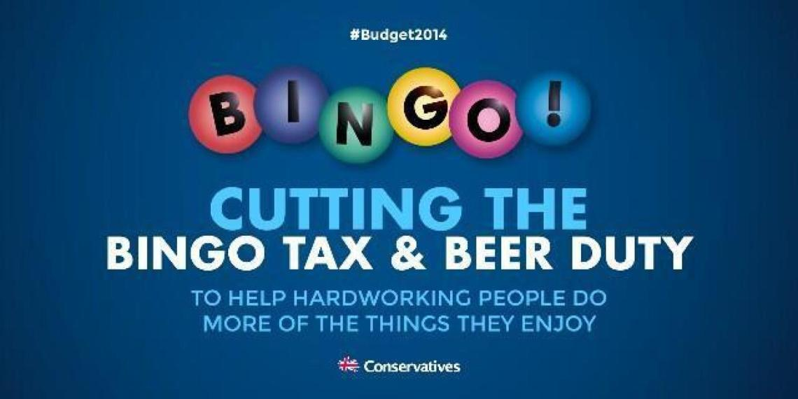 Tory Bingo tax and beer duty