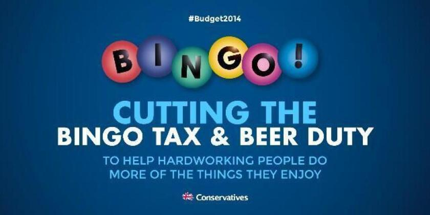 Tory Bingo tax and beer duty