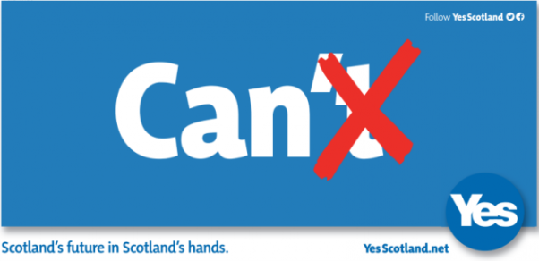 Yes scotland can cant poster