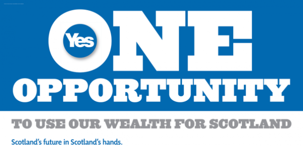Yes scotland poster one opportunity