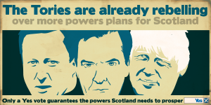 Yes scotland tories rebelling over devo max