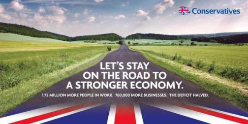 Road to Recovery Conservative Party poster