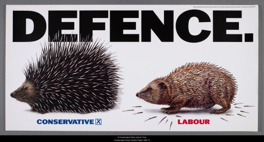 Defence 1992 Conservative Poster hedgehog porcupine