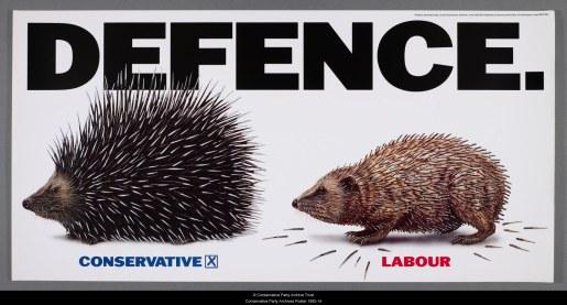 Defence 1992 Conservative Poster hedgehog porcupine