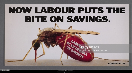 Labour put the bite on savings 1992 mosquito blood
