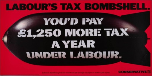 Labour-Tax-Bombshell 1992 poster