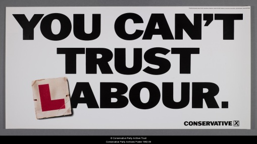 You  cant trust labour 1992
