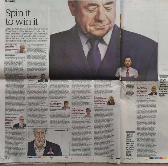 Benedict Pringle The Guardian spin it to win it political brands advertising