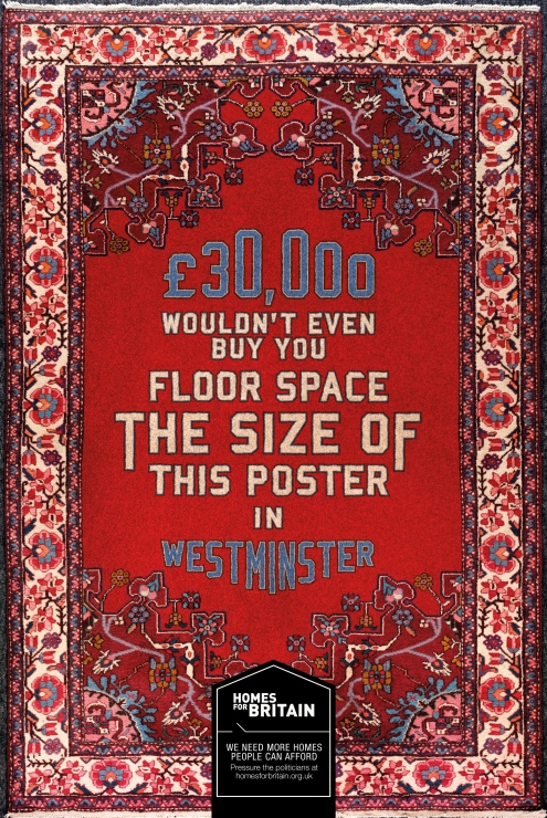 Carpet homes for britain poster westminster