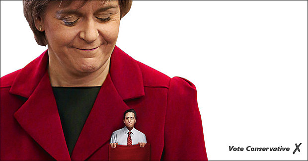 Ed miliband in nicola sturgeon pocket poster