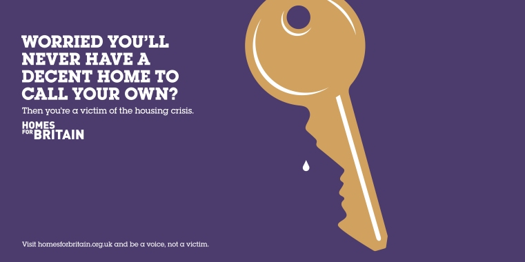 Key face tear homes for britain poster