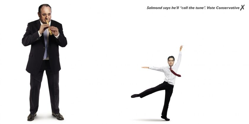 Salmond Miliband Call The Tune poster