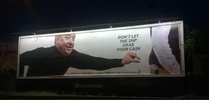 Conservative Party poster dont let SNP grab your cash