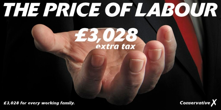 Conservative poster 3028 extra tax for every working family