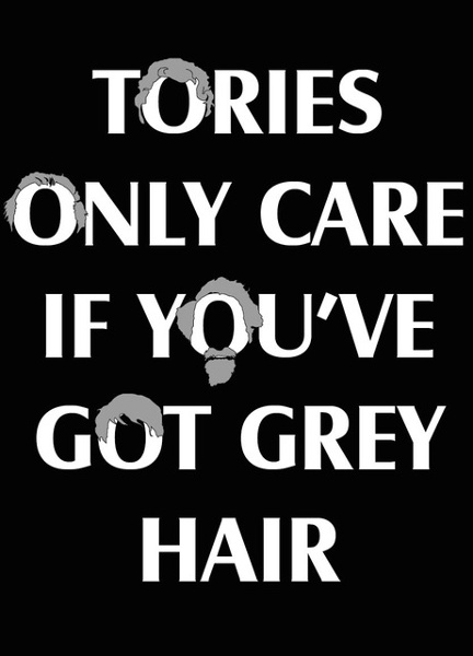 Tories only care if you've got grey hair