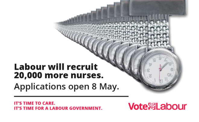 Labour poster - recruit more nurses