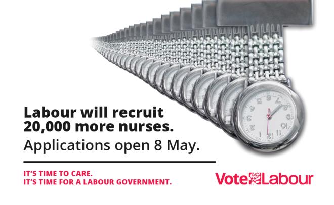 Labour poster - recruit more nurses