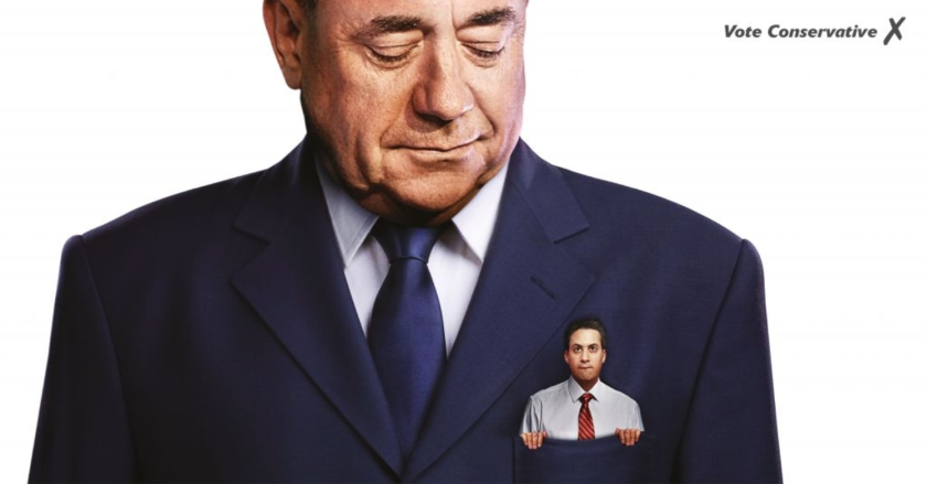 Miliband in Salmond Pocket Conservative Party poster