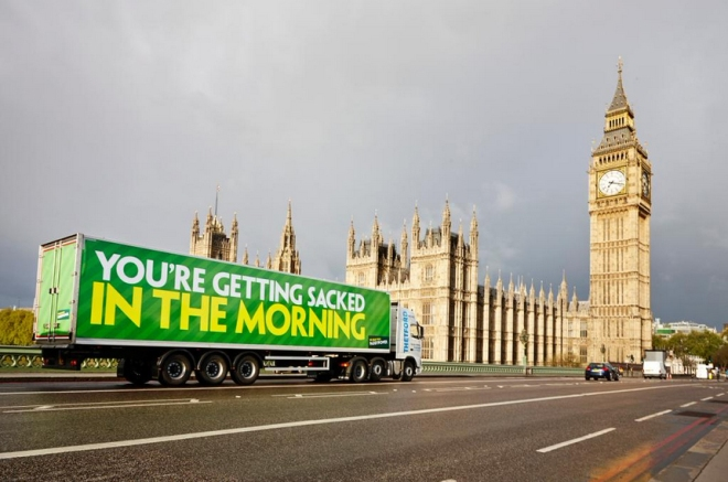 Paddy Power Poster General Election You're Getting Sacked in the morning