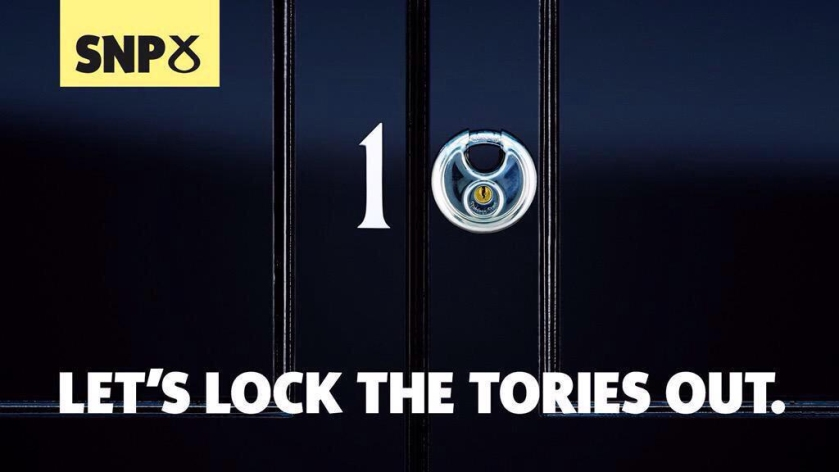 SNP Let's lock the tories out of number 10