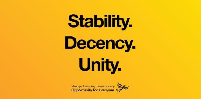 Lib Dems stability decency unity