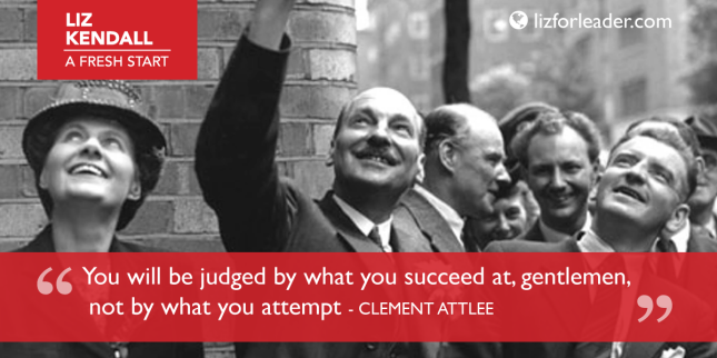 Liz Kendall Fresh Start Clement Attlee