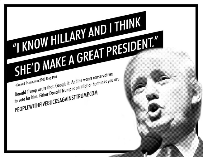 Crowd funders against trump hillary