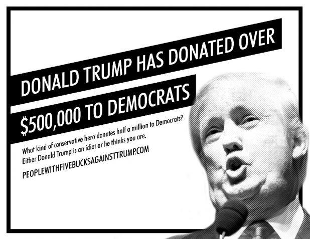 Crowd funders against trump